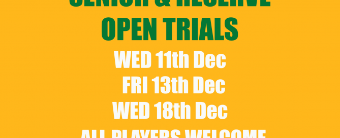 Senior & Reserve Trials