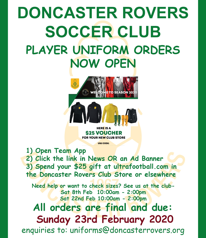 Uniform Orders Now Open