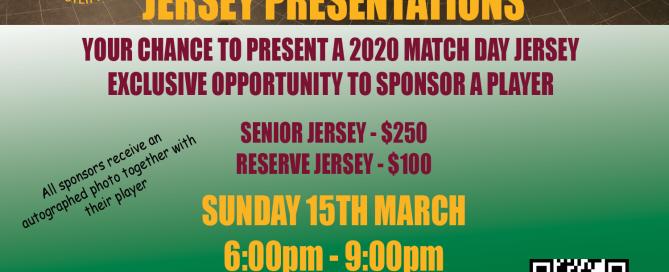 2020 Jersey presentations