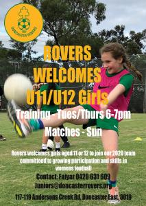 Rovers welcomes U12 girls
