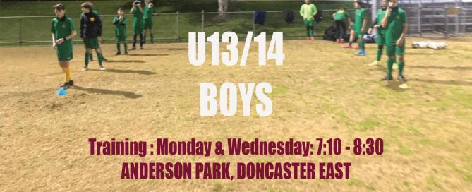 Seeking U13 & U14 boys