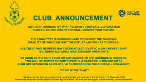Club Update September 2020