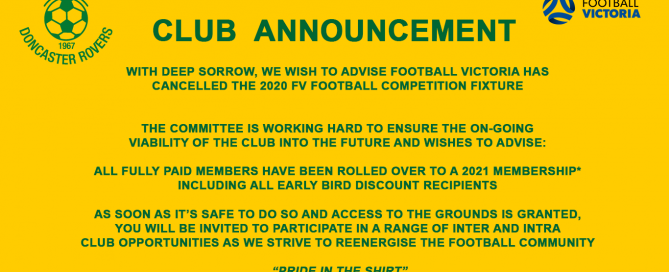 Club Update September 2020